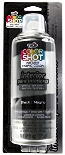 Tulip ColorShot Instant Fabric Color Interior Upholstery Spray 8 oz - Black