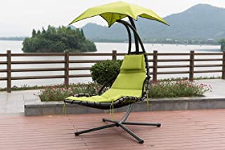 TechFaith Hammock Stand Outdoor Chair Outdoor Swings for Adults Patio Lounge Chair Outdoor Hanging Chair Outdoor Lounger Free Standing Hammock Yard Chair (Green)
