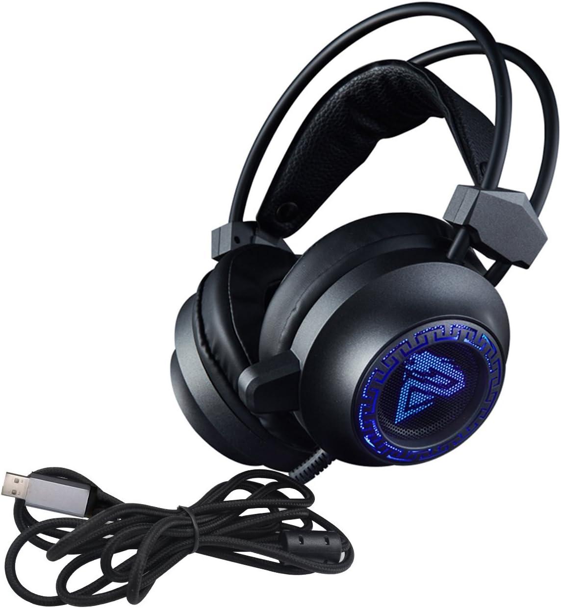 3,5mm Gaming-Headset Over-Ear-Sportkopfhörer mit Mik für Smartphones PC A3B9
