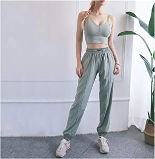 YOUPIN New Women Sportswear Solid Loose Sports Pants Bra Yoga Set Casual Fitness Gym Workout Run Jogging Clothes XXL Sport...
