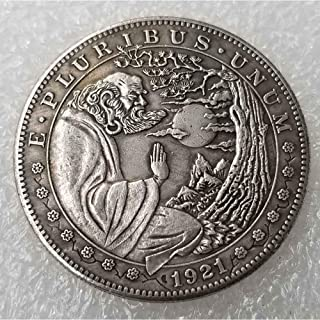 Commemorative Coin Favors Gift for Dad//Boyfriend//Husband Future experience FKaiYin Liberty Angel Carved Nickel Funny Coin-1881 Hobo Nickel Morgan Dollar
