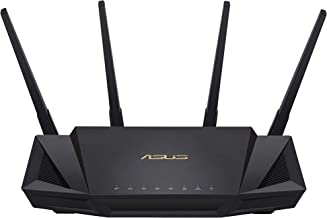 ASUS RT-AX58U - Router WiFi 6 AX3000 Doble Banda Gigabit (OFDMA, MU-MIMO, 1024QAM, Cliente y Servidor VPN, Modo Punto Acceso, repetidor & Nodo AiMesh, Intel Triple Core WiFi 6), 1 Unidad (120m2)