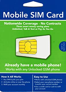 Mobile Wireless SIM Card - Discontinued