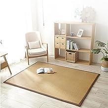 Natural Fiber Bamboo Braided Rug Living Room Mattress 2cm Thick Cooling Rattan Floor Mat, Sleeping Pad Mat for Meditation ...