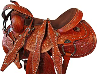 Orlov Hill Leather Co 15 16 17 DEEP SEAT Western Barrel Saddle Show Pleasure Trail Horse Racing Package