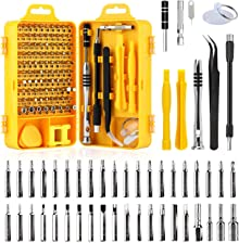 Rimposky 110 in 1 Screwdriver Set,Professional Multi-function Screwdriver Magnetic Repair Tool Kit Compatible with Cell Phone,iPhone,iPad,Watch,PC,Laptop and more.(Yellow)