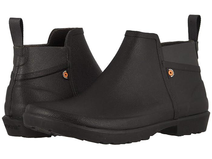 Bogs  Flora Bootie (Black) Womens Rain Boots