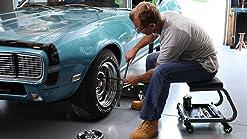 Amazon Com Wen 73012 300 Pound Capacity Pneumatic Rolling Mechanic Stool Seat Home Improvement