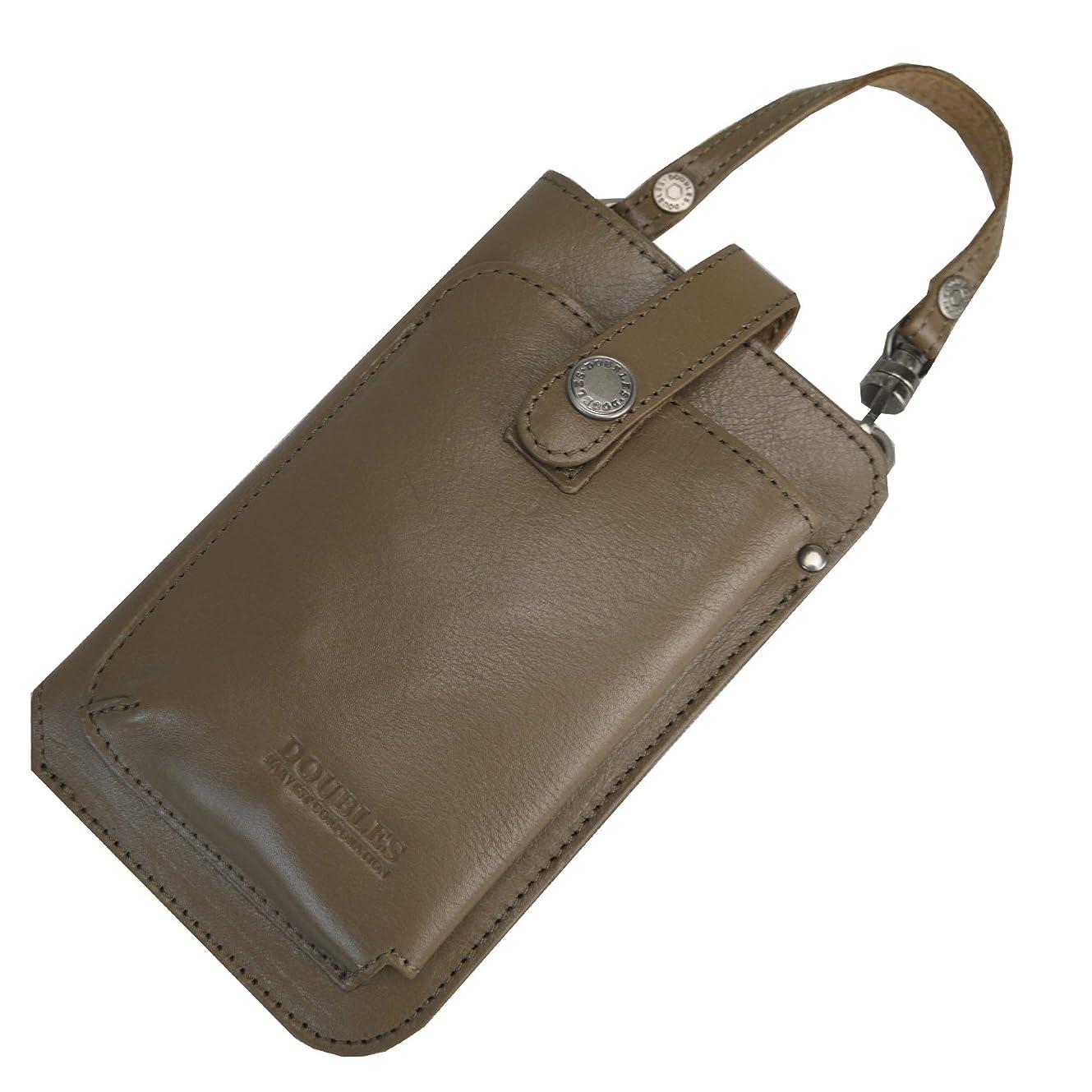 出席どんよりした槍[ダブルス] スマートフォン用ポーチ ウエストバッグ メンズ スマホポーチ ショルダー 2WAY 本革 JYS-7355