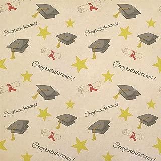 Graduation Congratulations Kraft Present Gift Wrap Wrapping Paper