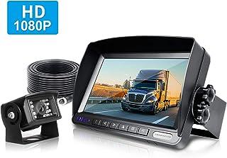 ZEROXCLUB Rear View Camera Kit, 1080P FHD Car Backup Camera IP69 Waterproof Night Vision Reverse Camera Monitor for Van RV... photo