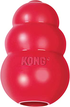 KONG - Classic Dog Toy, Durable Natural Rubber- Fun to Chew, Chase and Fetch - for Medium Dogs