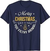 Merry Christmas You Filthy Animal Funny Xmas Tshirt