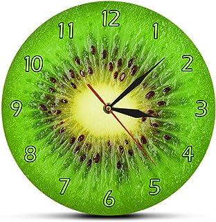 Zhangbo - Reloj de pared con diseño de frutas de verano y kiwi, color verde