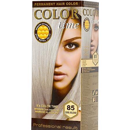 Color time, tinte permanente para el cabello de color rubio frio 85