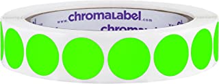 ChromaLabel 3/4 inch Color-Code Dot Labels | 1,000/Roll (Fluorescent Green)