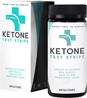 Ketone Keto Urinal Test Strips - Perfect for Ketogenic, Low Carb, Atkins & Paleo Diets, and Ketogenic Measurement, Accurate Result in 15 Seconds, 100 Strips