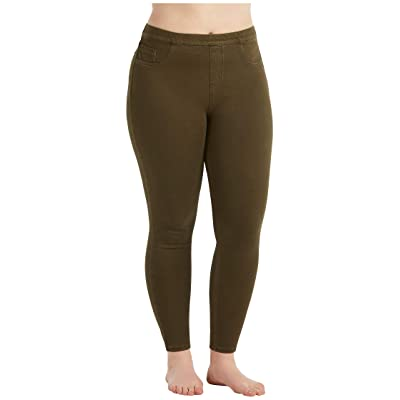 Spanx Plus Size Jean-ish Ankle Leggings (Dark Olive) Women