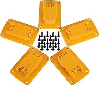 5 بسته ابزار نصب برای Dewalt 20V ، 12V Drill ، همچنین مناسب برای Milwaukee M18 Tool Holder، hanger (تعداد زیادی از 5 ، زرد)
