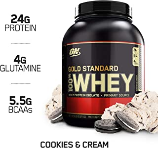 OPTIMUM NUTRITION GOLD STANDARD 100% Whey Protein Powder, Cookies and Cream, 4.65 Pound (Package May Vary)