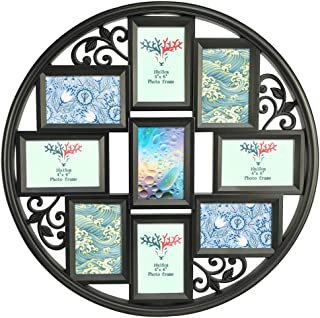Edenseelake 4x6 Collage Picture Frames 9 Openings Multiple Wall Photo Frame with Glass Front