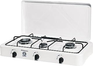 comprar comparacion Orbegozo 16426 FO 3450-Hornillo Gas, 3 quemadores, 1400 W, Esmaltado, Color blanco
