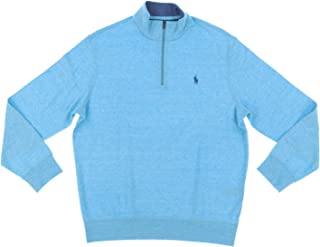 RALPH LAUREN Polo Men's Cotton-Blend Half-Zip Pullover Sweater