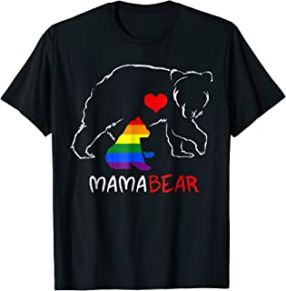 LGBT Mom Mama Bear Shirts Mothers Gift Rainbow Shirt