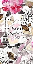 Boston International 32 Count 3-Ply Paper Guest Towel Buffet Napkins, Jardin Paris (Pink)