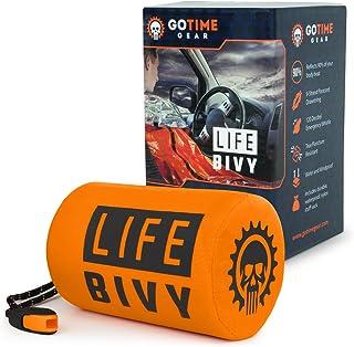 Go Time Gear Life Bivy Emergency Sleeping Bag Thermal Bivvy - Use as Emergency Bivy Sack, Survival Sleeping Bag, Mylar Eme...