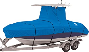 "Classic Accessories Stellex Center Console T-Top Roof Boat Cover, 22'-24'L, 116\"" Beam W"