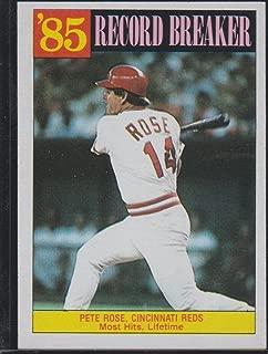 1986 Topps Pete Rose Reds Record Breaker Baseball Card #206