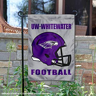 College Flags and Banners Co. Wisconsin Whitewater Warhawks Football Helmet Garden Yard Flag