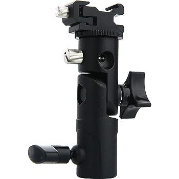 Bestshoot Professional Universal E Type Camera Flash Speedlite Mount Swivel Light Stand Bracket Umbrella Shoe Holder Fits Speedlite Flashes with Standard