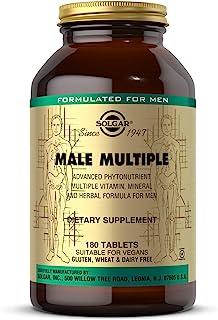 Solgar Male Multiple, 180 Tablets - Multivitamin, Mineral & Herbal Formula for Men - Advanced Phytonutrient - Vegan, Glute...