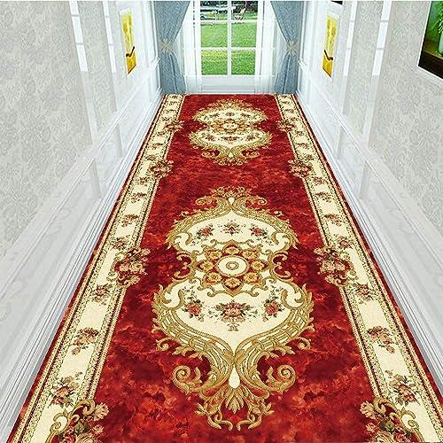 Alfombra de lujo Alfombra de pasillo de tamaño personalizado, antideslizante, antideslizante antideslizante bien tejida,0.6x3m