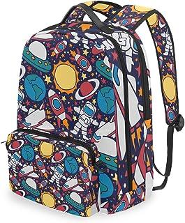 Mochila con Bolsa Cruzada Desmontable, Color Espacial, Mochila de computadora para Viajes, Senderismo, Camping
