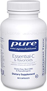 Pure Encapsulations Essential-C & flavonoids | Hypoallergenic Vitamin C Supplement Enhanced with Flavonoids | 90 Capsules