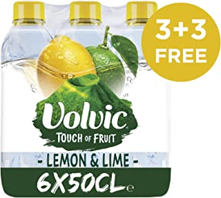 Volvic Natural Mineral Water - Lemon, 6-Pieces