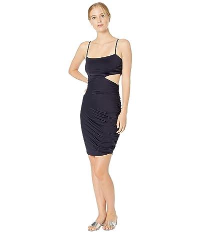 Susana Monaco Thin Strap Gathered Cutout Dress (Midnight) Women