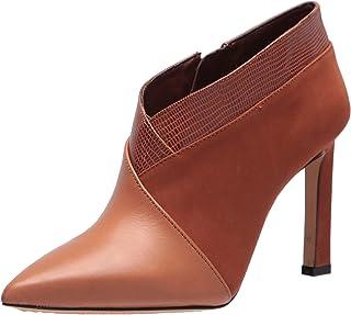 Damen Stiefeletten Ankle Boots Cut Out High Heel Booties Nieten 899610 New Look