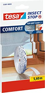 Tesa Insect Stop Comfort zelfklevende klittenbandstrips voor insectennet, navulverpakking (2X reserverol 5,6 m)