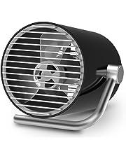 PoPoWQ USB扇風機 卓上扇風機 ミニ扇風機 ミニファン Mini Fan USB 扇風機 タッチ操作 2段風量調節 オフィス おしゃれ コンパクト 小型 卓上 強力 MINI 小型扇風機 小型ファン 静音 30db 二層前後羽根 強風 壁掛け 黒白2色