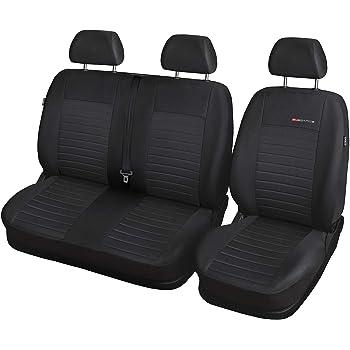 Schwarz-Graue Sitzbezüge für VW CRAFTER Autositzbezug VORNE NUR FAHRERSITZ