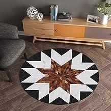 Animal Fur Texture Round Carpet mat Coffee Table pad Hanging Basket Living Room Bedroom Bedside Blanket Children's mat (Co...