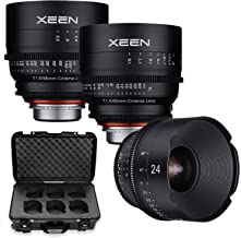 Xeen 24mm, 50mm, 85mm T/1.5 Professional Cinema Series Lens Bundle for Canon Mount Cameras by Rokinon