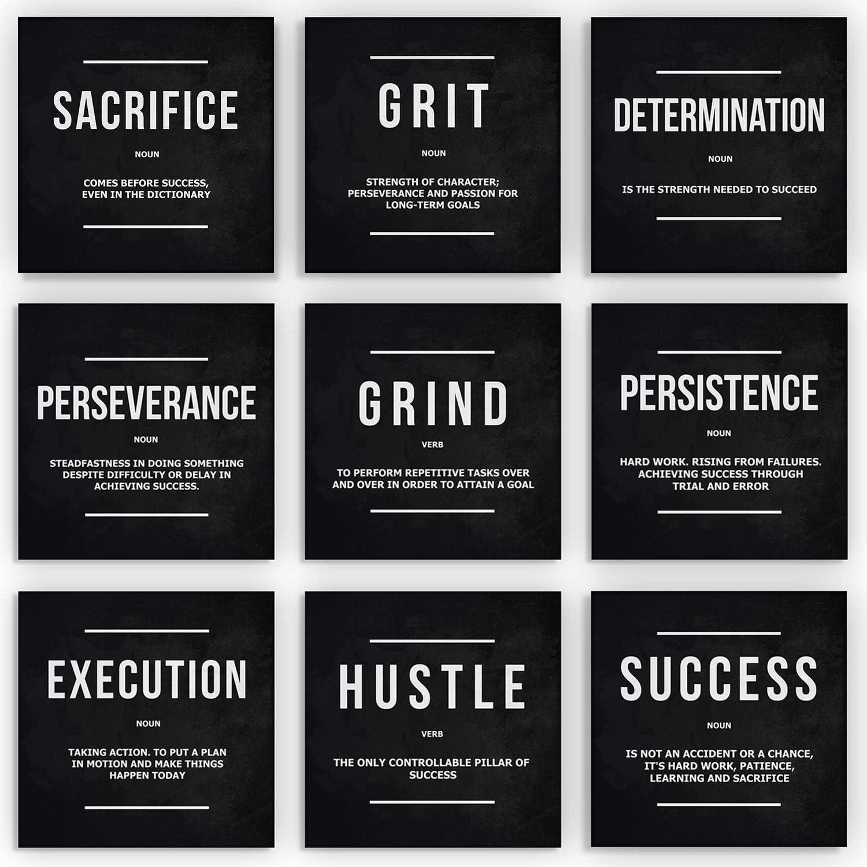 Store Max 46% OFF 9x Motivational Wall Art Office Canvas Prints Entrepreneur Decor