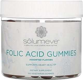 Solumeve Folic Acid Gummies, Gelatin Free, Assorted Flavors, 100 Vegetarian Gummies