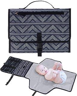 Jhua - Almohadilla para cambiar pañales portátil de neón, para cambiar pañales, almohadilla para cambiar pañales acolchada...