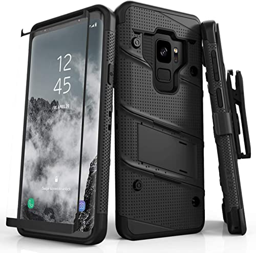ZIZO Bolt Series for Samsung Galaxy S9 Case Military Grade Drop Tested with Tempered Glass Screen Protector Holster B...